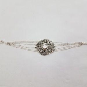 NRT Avon Bracelet Silver Tone Chain Romantic Gothi